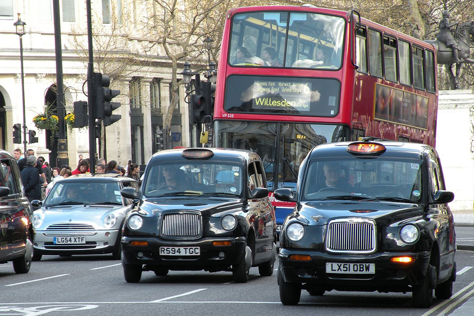 Taxi's in Londen