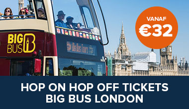 Bestel online je tickets voor de Big Bus hop on hop off tours in Londen