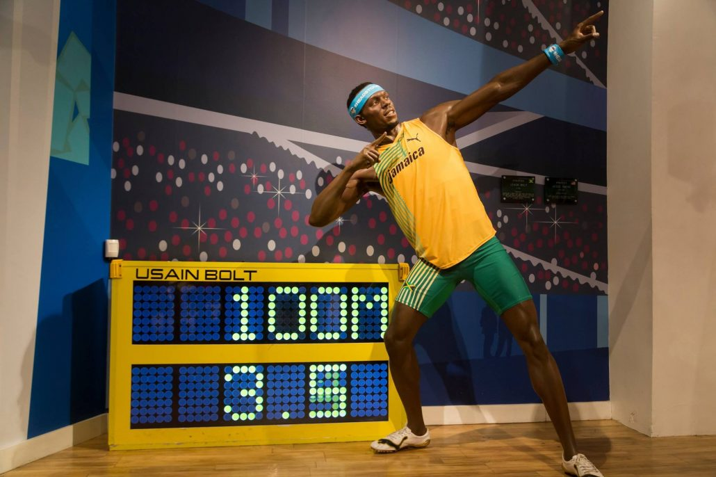 Usain Bolt in Madame Tussauds in Londen