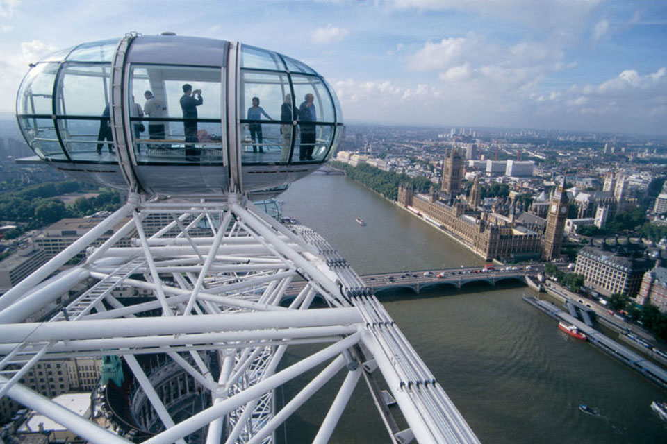 De London Eye in de Engelse hoofdstad
