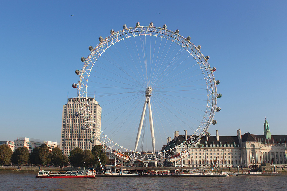 De London Eye in Londen