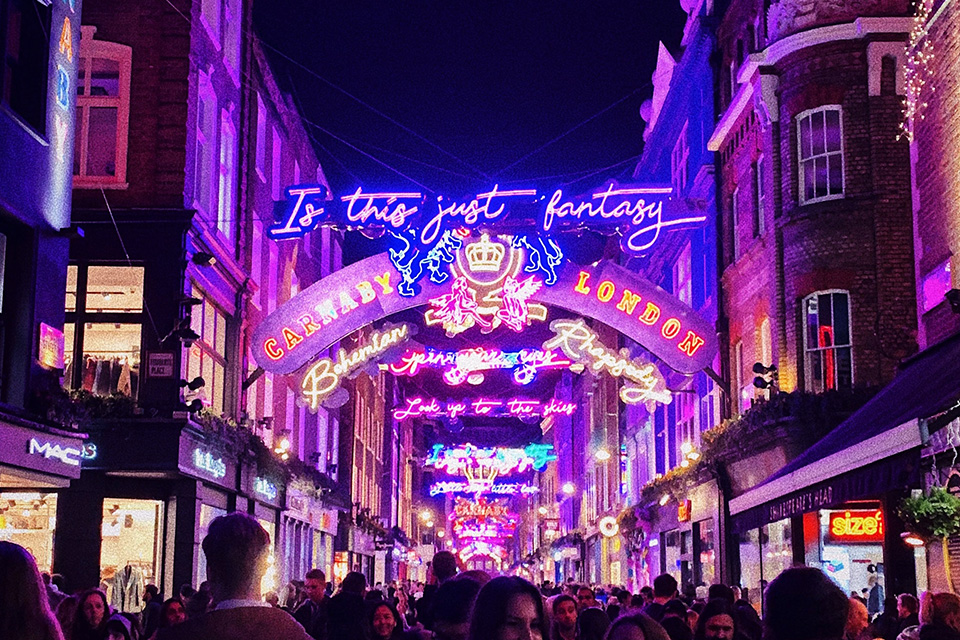 Carnaby Road in Londen