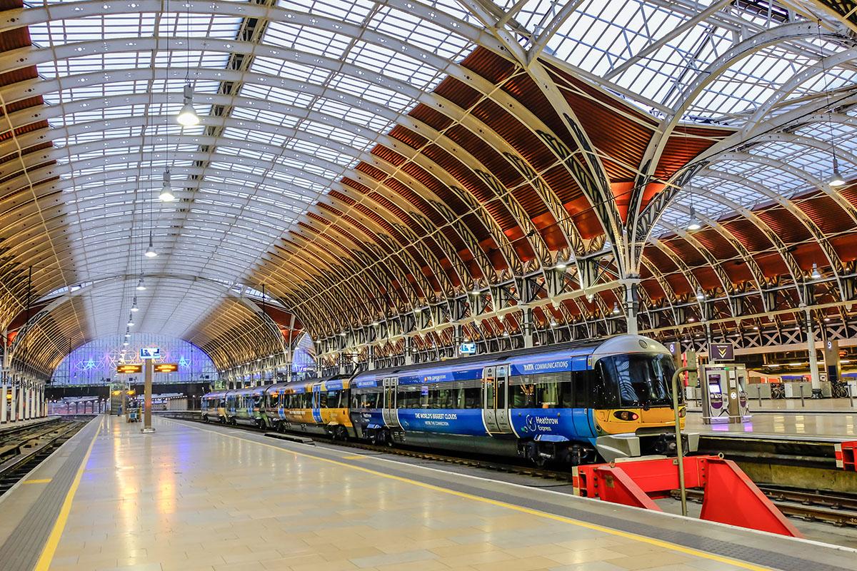 De heathrow Express trein in Londen