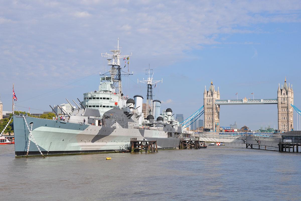 De HMS Belfast in Londen