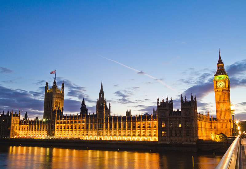 Palace of Westminster in Londen