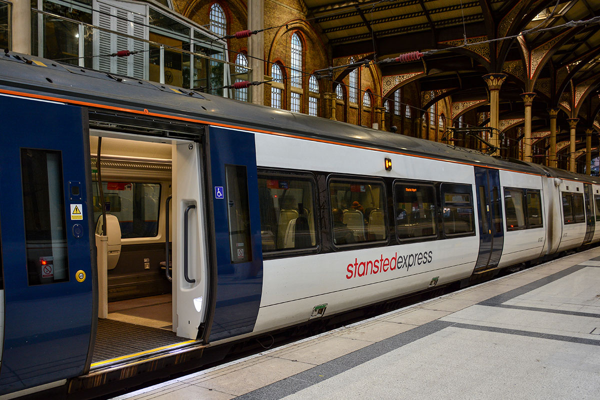 De Stansted Express in Londen